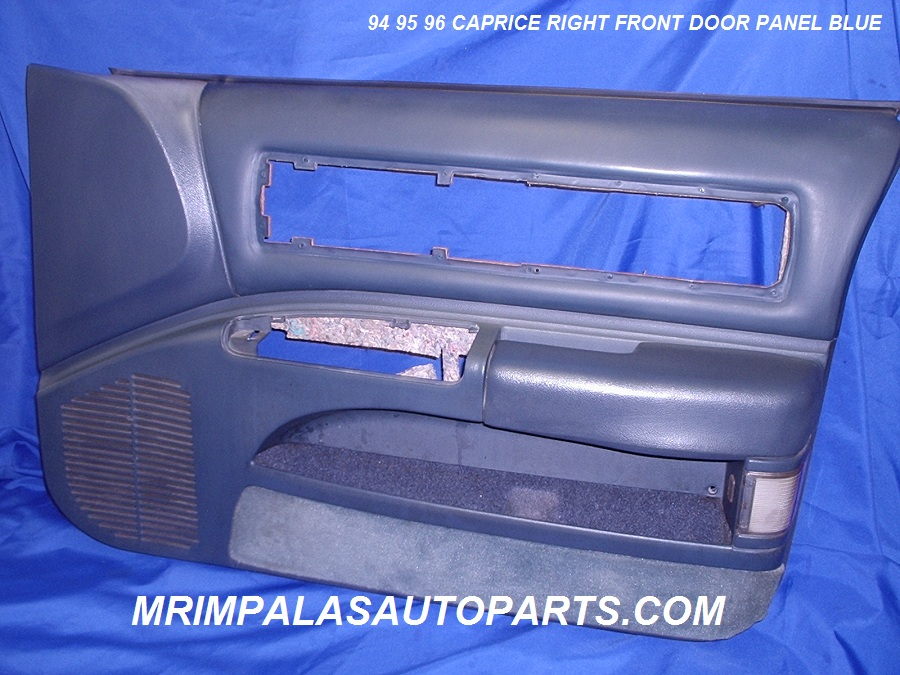 94 95 96 Caprice Door panel right front blue leather