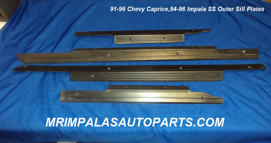 91 92 93 94 95 96 Caprice Impala SS Outer sill plates